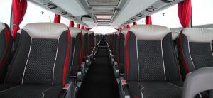 Εσωτερικό λεωφορείου SETRA S415 HDH με γυάλινη οροφή